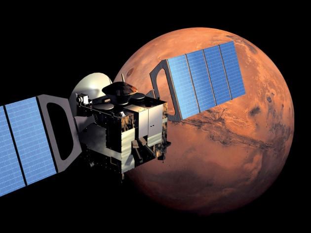 Un lago di acqua liquida sotto i ghiacci del polo sud di Marte