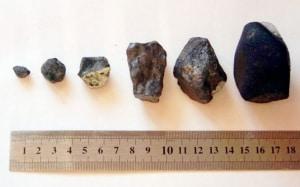 Frammenti ritrovati a Čeljabinsk, in Russia, nel 2013