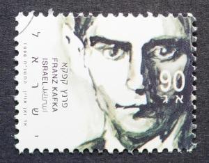 Un francobollo israeliano dedicato a Frank Kafka, lo scrittore da cui è nato l'aggettivo kafkiano.