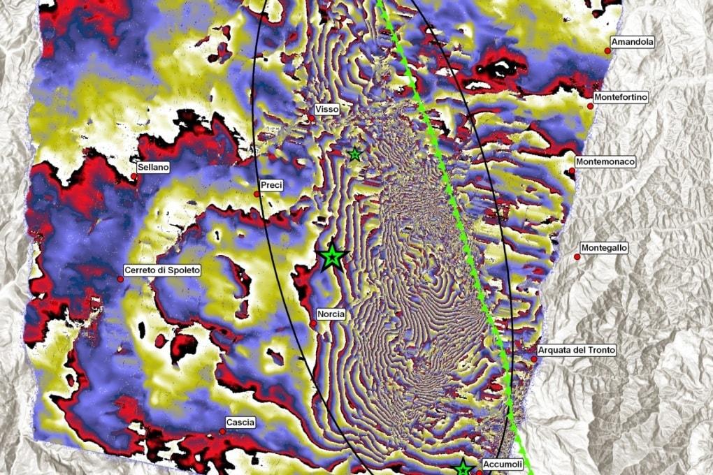 Terremoto: deformazioni e sprofondamenti visti dal satellite
