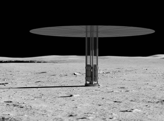 energia elettrica, Luna, basi lunari, reattore nucleare, fissione nucleare, KRUSTY