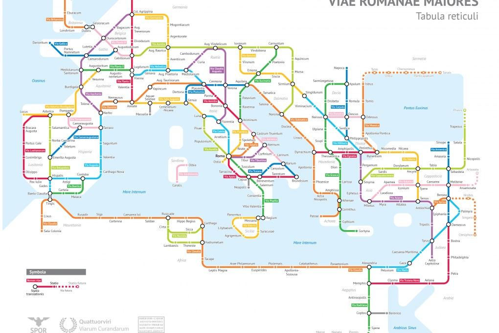 Cartina Antica Roma.Le Antiche Vie Romane Come Linee Della Metropolitana Focus It