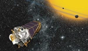 Illustrazione: il telescopio Kepler.