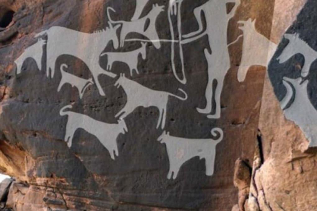 Le più antiche rappresentazioni di caccia con cani al guinzaglio