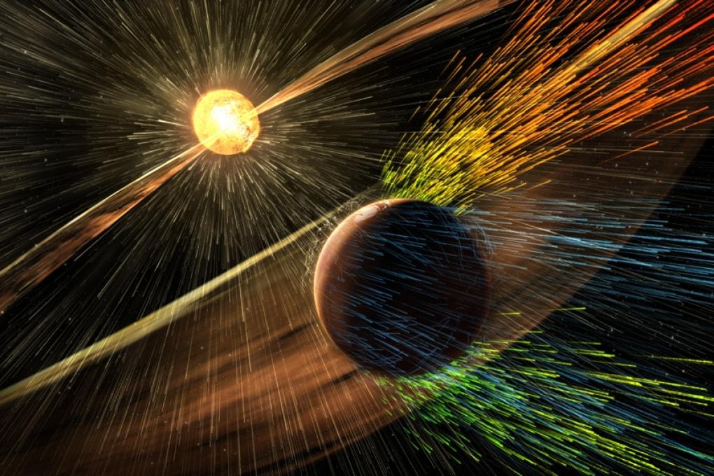 Una tempesta solare da record su Marte