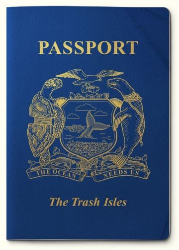 L'isola di plastica ha bandiera e passaporto