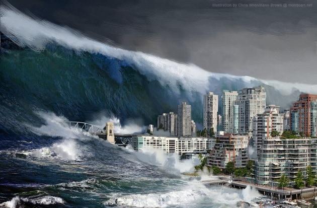 Mega tsunami: la catastrofe corre (solo sul web)
