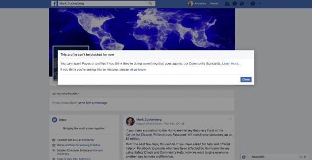 Le uniche due persone al mondo che non puoi bloccare su Facebook