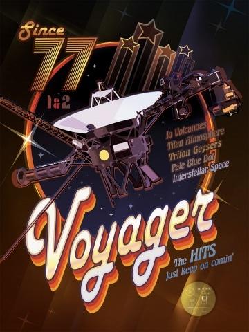 I poster dalla Nasa che celebrano le sonde Voyager
