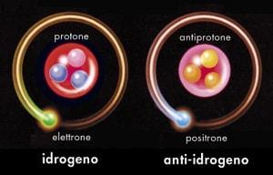 materia, antimateria, elettroni, positroni, protoni, antiprotoni, big bang, asimmetria universo