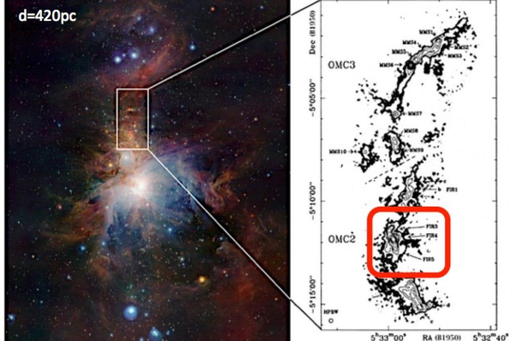 Catene di carbonio nella nube di Orione