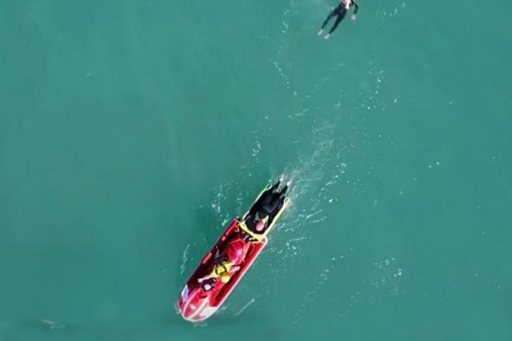 Un drone bagnino: il video di un salvataggio in Spagna