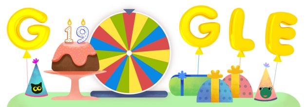 Che cos'è la ruota della fortuna per il compleanno di Google
