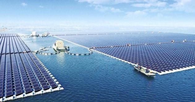 Cina, un parco solare galleggiante su un'ex miniera di carbone