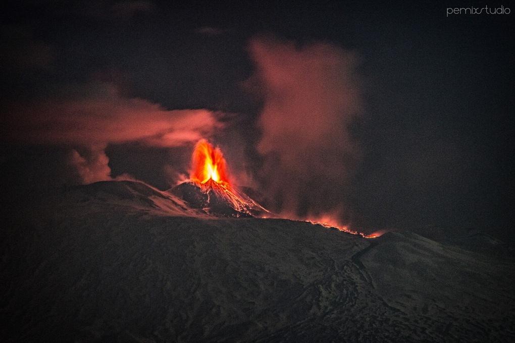 La nuova eruzione dell'Etna