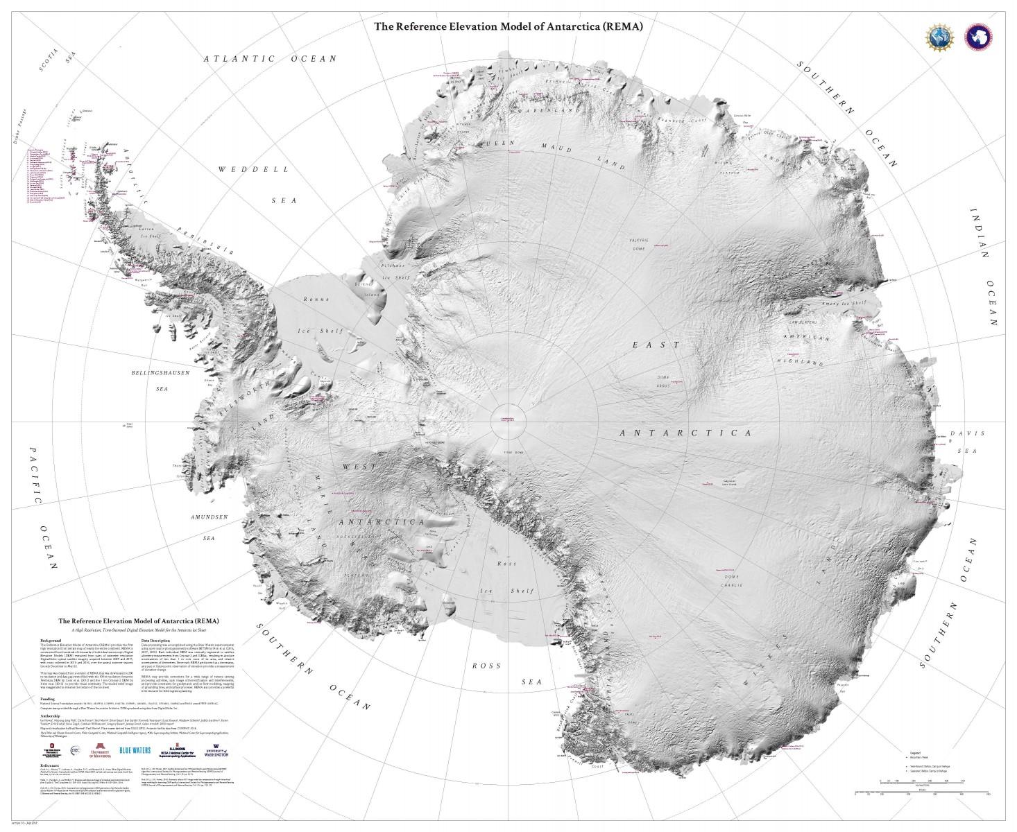 REMA_Mappa online dell'Antartide, la più precisa