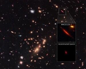galassie, big bang, universo primordiale, via lattea, lente gravitazionale, MACS2129-1
