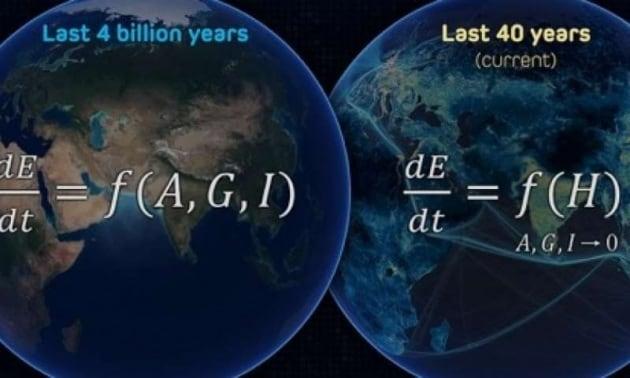 La matematica dell'Antropocene: l'uomo batte la natura 170 a zero