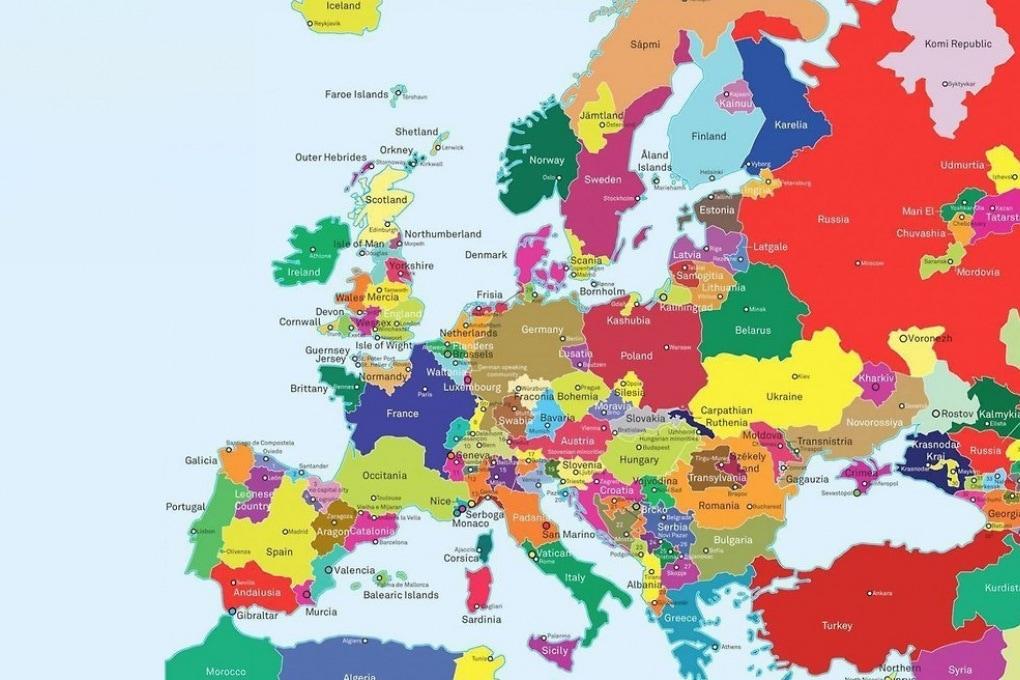 Cartina Catalogna.Come Sarebbe L Europa Se Tutti I Movimenti Indipendentisti Avessero Successo Focus It