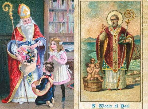 San nicola e la leggenda di babbo natale - Babbo natale porta i regali ai bambini ...