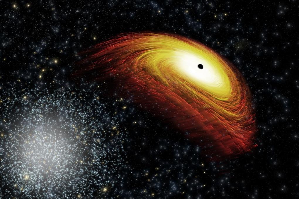 Il buco nero con il rinculo