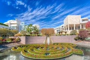 Il giardino del Museo Getty di Malibu, California (Usa).