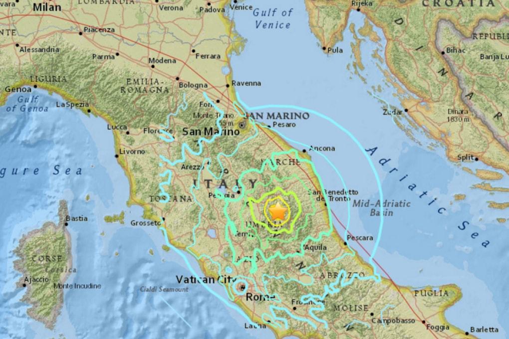 I forti terremoti in Italia centrale