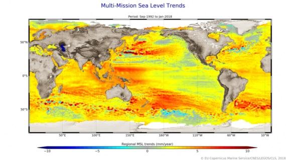 cambiamenti climatici, riscaldamento globale, livello dei mari, innalzamento del livello dei mari