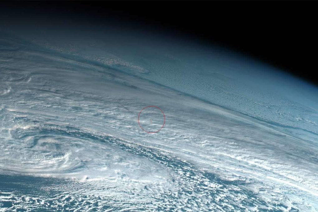 La meteora esplosa in atmosfera nel 2018, sopra lo Stretto di Bering