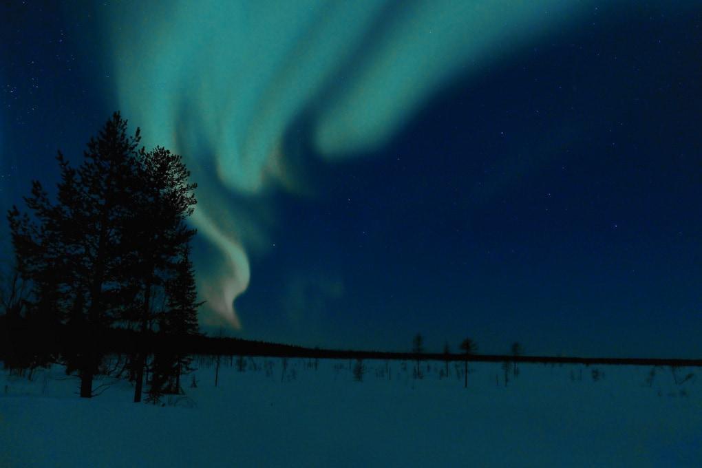 Aurore boreali in Lapponia