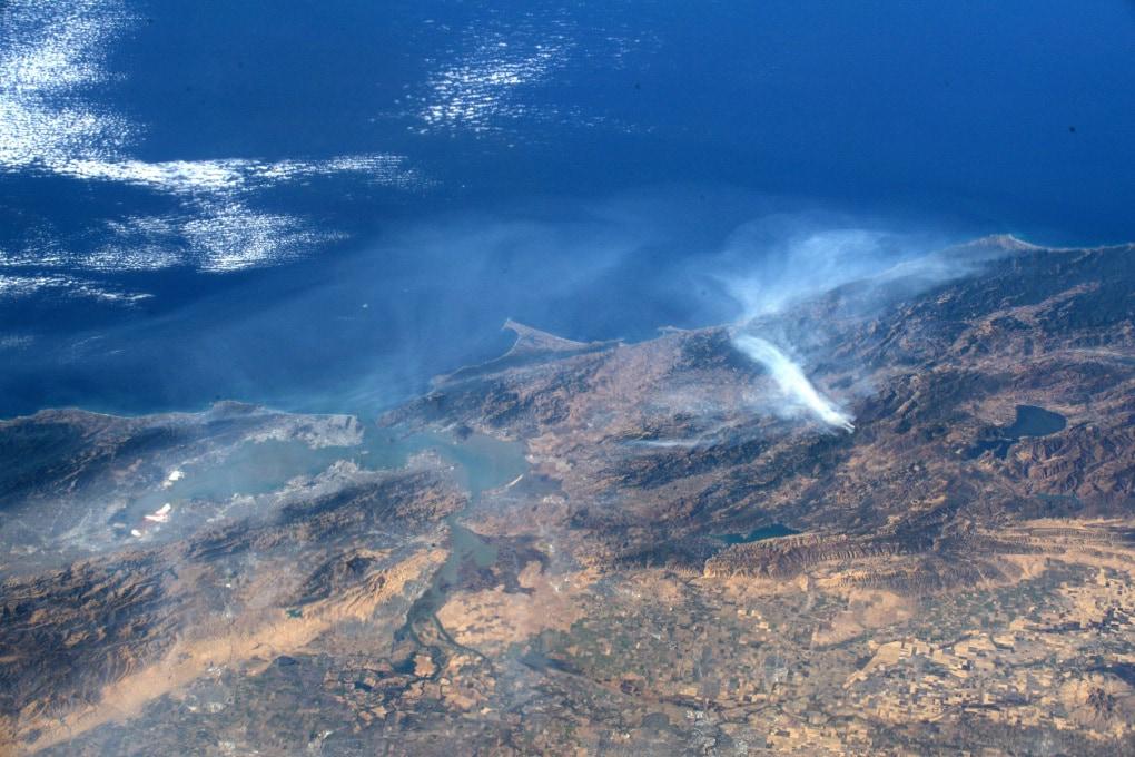 Gli incendi in California visti dallo Spazio