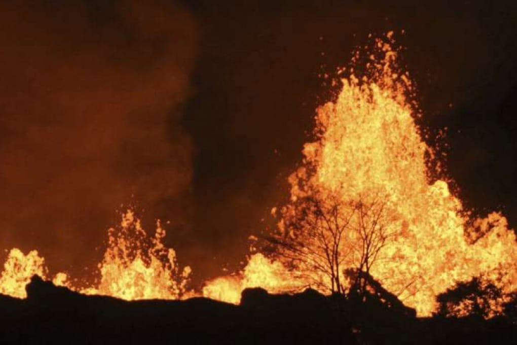 C'è allarme per la presenza di acqua nella caldera del vulcano Kilauea