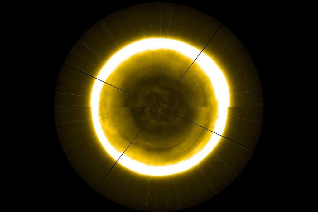 Il polo nord del Sole in una ricostruzione del satellite Proba-2