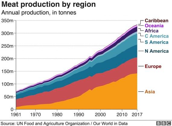 alimentazione, allevamento, cibo, consumi di carne nel mondo e in Italia