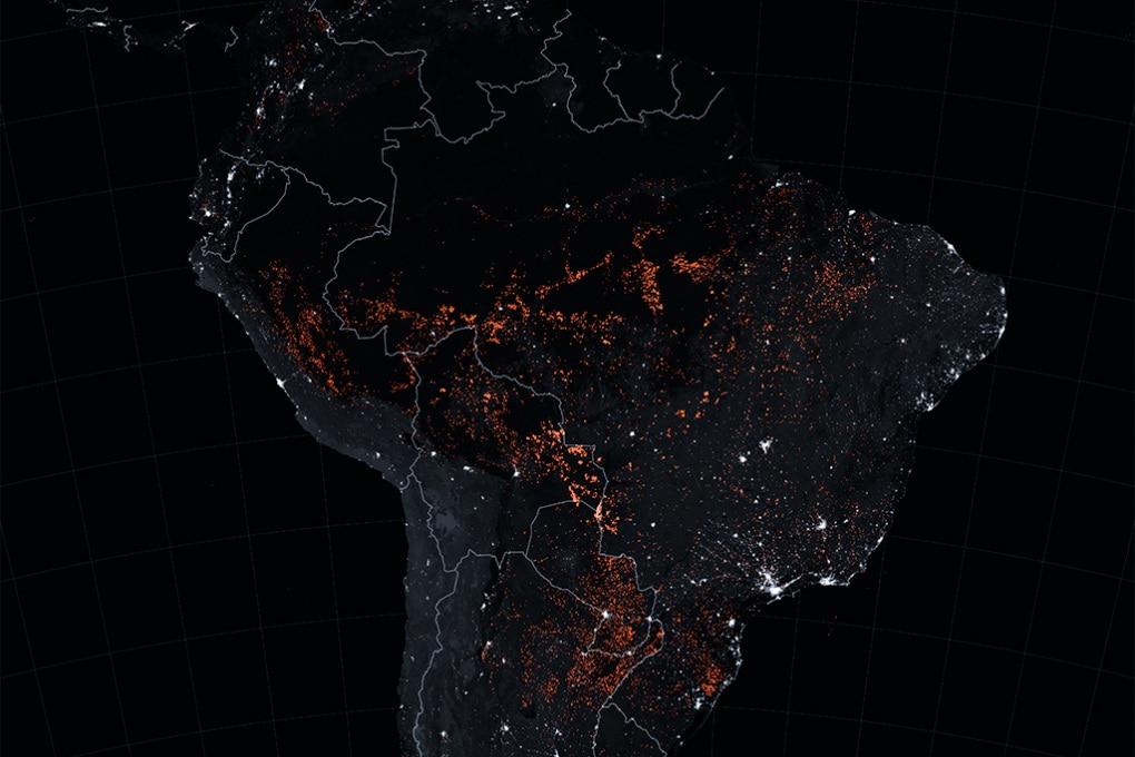 Il Sud America brucia