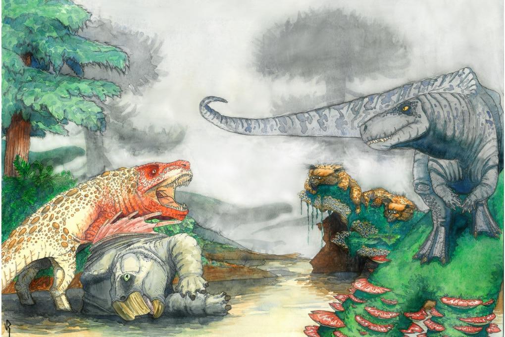 I rettili simili a coccodrilli che terrorizzavano i dinosauri
