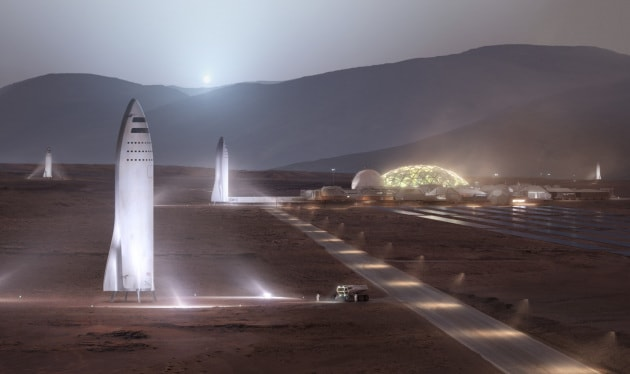 SpaceX Starship: le basi sul Pianeta Rosso