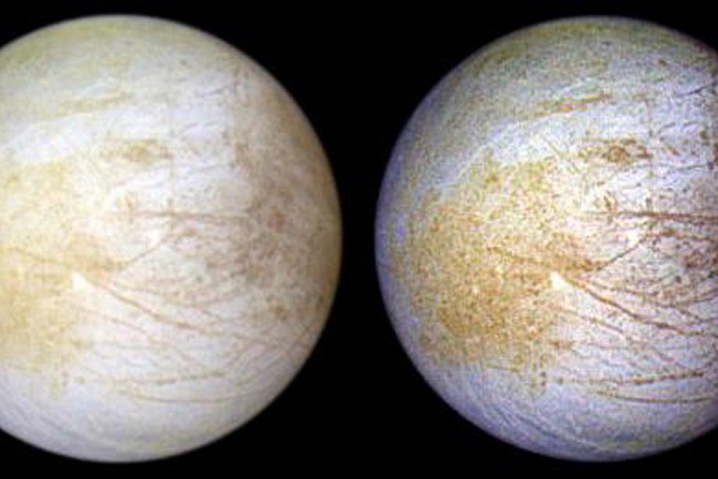 Sale da cucina sulla superficie della luna di Giove, Europa