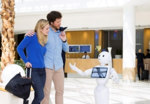 Pepper robot insegnante parlamento inglese