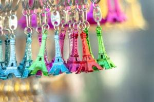 souvenir, Parigi, Torre Eiffell, portachiavi
