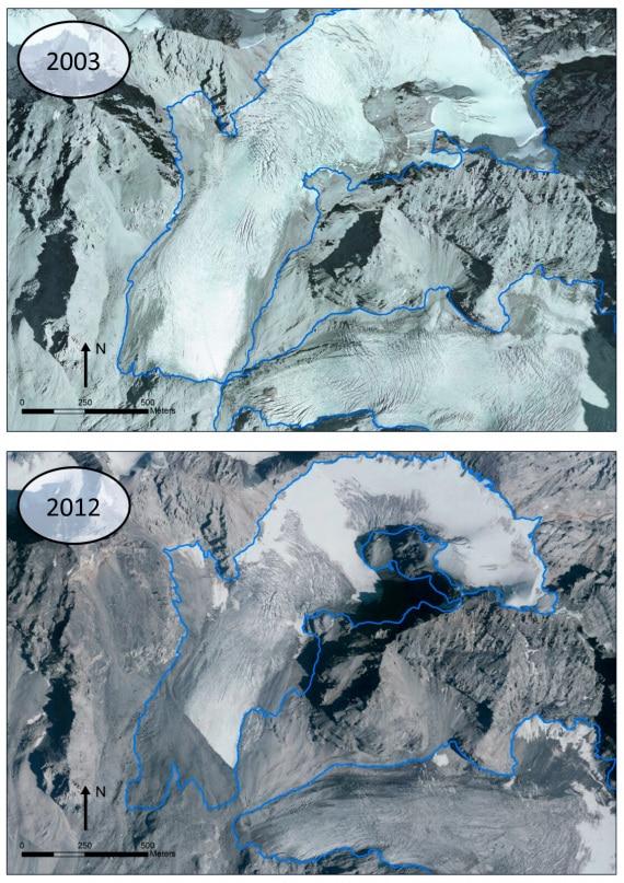 Cambiamenti climatici: i ghiacciai sono sempre più neri e fragili