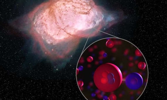 Big Bang, Universo primordiale, formazione degli elementi chimici, nucleosintesi, idruro di elio