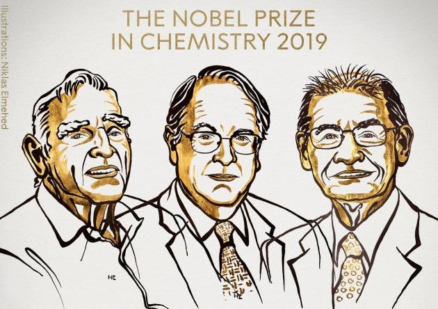 Il Nobel per la Chimica 2019 agli scopritori delle batterie agli ioni di litio