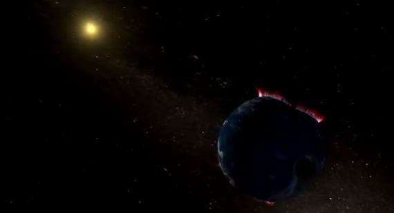 magnetosfera, magnetopausa, campo magnetico della Terra, vento solare, il suono della Terra