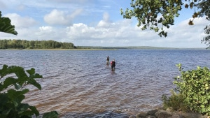 spada lago bambina svedese vichinghi