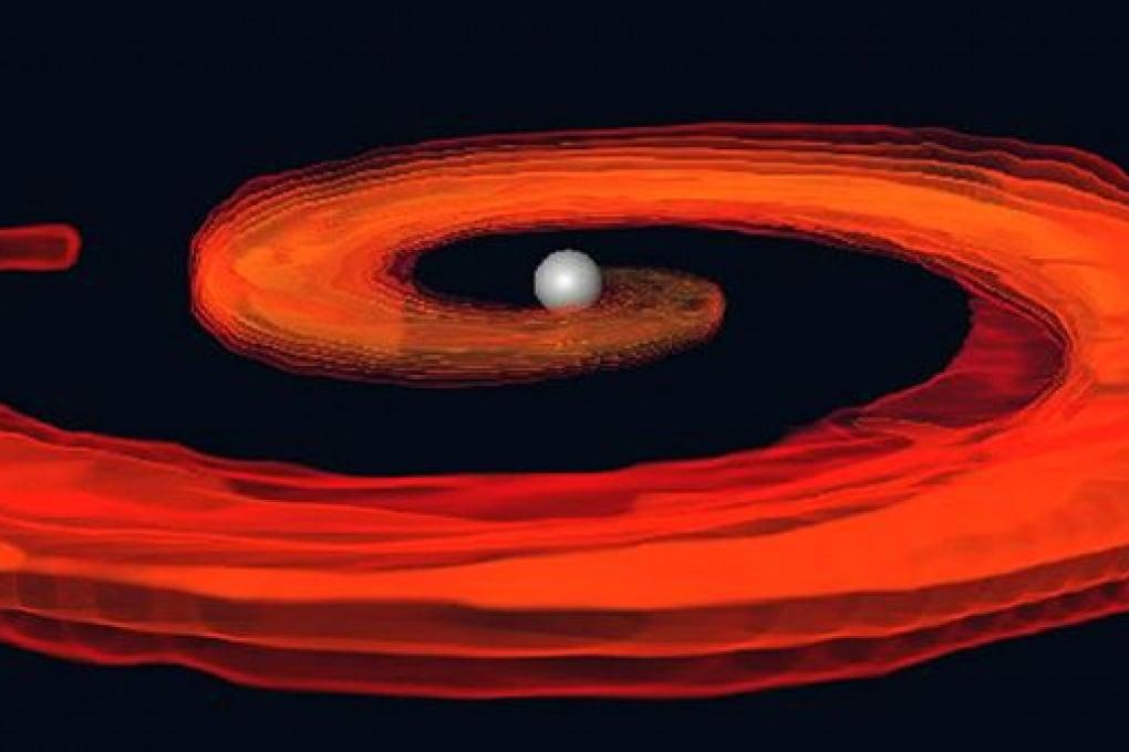 Il banchetto del buco nero con la stella di neutroni