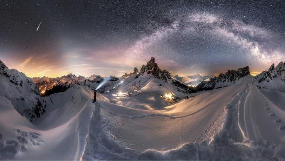 La Via Lattea e le Dolomiti