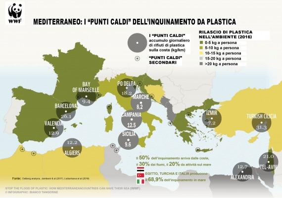 Mare Mediterraneo Cartina.Mediterraneo Di Plastica Focus It