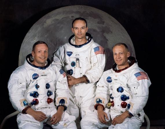 apollo 11: Armstrong, Collins e Aldrin