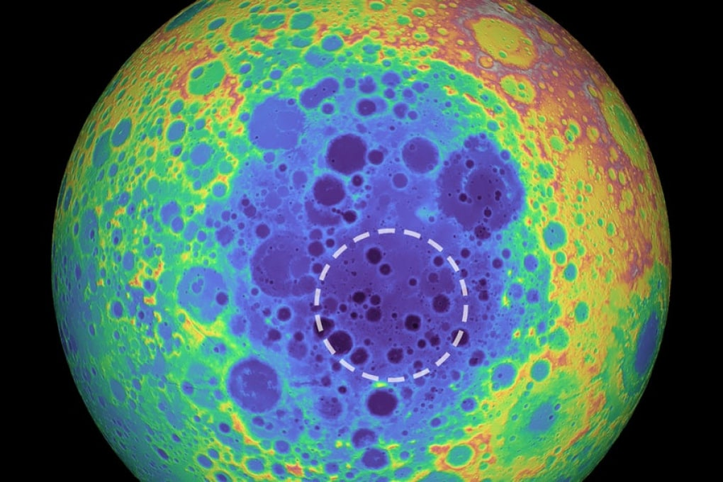 C'è un'enorme massa metallica sotto al più grande cratere lunare